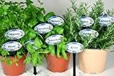 10 Landhaus Gartenstecker plus 24 Pflanzschilder zum selbst bekleben