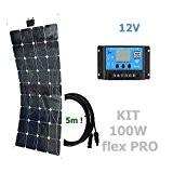 100W 12V Solaranlage flex PRO flexibel Solarmodul