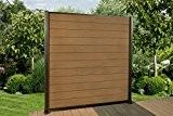 12,6 Lfm. WPC Zaun Sichtschutzzaun, mit Pfosten und Zubehör Farbe: Braun / Colormix