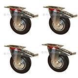 12 Lenkrollen mit Bremse, 125 mm