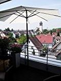 2 X 40 mm EDELSTAHLHALTERUNG für Schirmstöcke 25,5 mm bis 50 mm Ø - SONNENSCHIRMHALTER für BALKONGELÄNDER für Außen oder ...