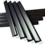24 Stück PVC - Sichtschutzstreifen Klemmschienen - anthrazit