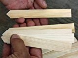 25 Stück - Stecketiketten - Pflanzenetiketten aus Holz 30 cm lang - Etiketten von Native Plants