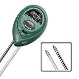 3-in-1 Boden Feuchtigkeit Meter, Licht und pH Säure Tester, Pflanze Tester, ideal für Garten, Bauernhof, Rasen, Indoor & Outdoor (kein ...