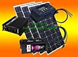 300 Watt Insel Solaranlage für Garten uvm. Komplett SET inklusive Montagematerial für Pfannendach