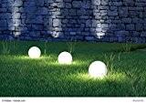 3er Set LED Garten Beleuchtung wetterfest mit Zuleitung und je 10 LED - wunderschöne Garten Wegelampe Kunststoff Wegeleuchte mit je ...