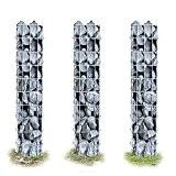3x [pro.tec] Säulen - Gabionen (100 x 12,5 x 12,5 cm) Gabion Steinkörbe Säulengabione Säule