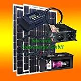 400 Watt Insel Solaranlage für Garten uvm. Komplett SET inklusive Montagematerial für Pfannendach