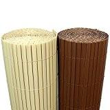 (5€/m²) PVC Bambus Sichtschutzmatte 120cm x 300cm [Braun] Sichtschutz / Windschutz / Gartenzaun / Balkon Umspannung Zaun [ Rapid Teck® ...
