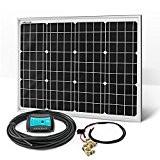 50W Solaranlage Solarset 12V Monokristallin Inselanlage Camping Caravan Solar