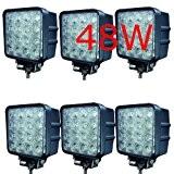 6 X LED 48W Arbeitsscheinwerfer Arbeitsleuchte 3600lm 6000K 67IP Rückfahrscheinwerfer - Traktor - Bagger