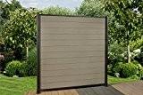 9 Lfm. WPC Zaun,180 x 180 cm, Sichtschutzzaun und Zubehör Farbe: Hellgrau