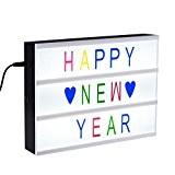 A4 Kino Leichte Box, TopElek Leuchten Ihrem Leben A4 Größe Filmischen Leuchtkasten mit LED Licht, 96 Farbige Wörte, Zahlen und ...