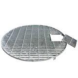 Abdeckgitter rund verzinkt D=90 cm Gitter für Wasserspiel Abdeckung für Becken 90cm Durchmesser