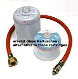 Adapterschlauch US II - Propanflasche 5/11Kg ersetzt die Schraubkartusche mit Euroventil