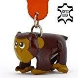 Affe Anton - kleiner Affen Schlüssel-Anhänger aus Leder, eine tolle Geschenk-Idee für Frauen und Männer im Zoo-Zubehör, Stofftier, Kuscheltier, Fatzke, ...