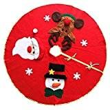 Alexio Weihnachts Weihnachtsbaum Rock Unterseiten Abdeckung Weihnachtsdekoration-Festivalgeschenke (106cm Rot)