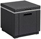 Allibert Kühlbox/Beistelltisch Ice Cube, Grau (Graphit)