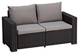 Allibert Lounge Sofa California, Grau, 2-Sitzer
