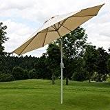 Alu Sonnenschirm Gartenschirm N18 270cm, neigbar, rostfrei ~ creme