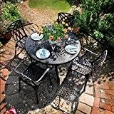 Amy 120cm Rundes Gartenmöbelset - 1 AMY Tisch + 4 APRIL Stühle