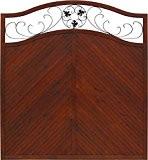 Andrewex Sichtschutzzaun Elegant 180 / 195 x 180 cm lasiert, farbig endbehandelt, Farbton Braun aus Holz Windschutz Blumenornament