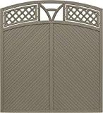 Andrewex Toulon Sichtschutzzaun mit Bogen Grau 180/195 x 180 cm (H x B cm ) aus Kieferholz Sichtschutz / Windschutz
