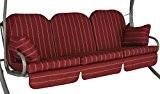 Angerer Deluxe Schaukelauflage Faro, Rot, 3-Sitzer