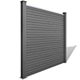 Anself Sichtschutzzaun WPC System Set Gartensichtschutz Grau 202 cm x186,8cm