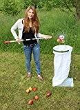"""Apfel-Sackhalter SACKI mit schwerer Metallplatte - Bag Man - der perfekte Helfer für Ihren Apfel-Sammler """"Roll-Blitz"""" Made in Germany - ..."""