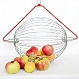Apfel-Sammler mit Holzstab- der Roll-Blitz die kleinste Obstaufsammelmaschine der Welt direkt vom Hersteller für Apfel, Birnen