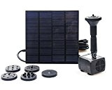 BACOENG 1.4W 200LPH Solar-Power Panel Pump Kit Tauch Brunnen Wasserpumpe Pond
