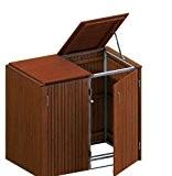 BINTO Mülltonnenbox Hartholz, Müllbox System 16