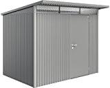 Biohort Gerätehaus Avantgarde mit Einzeltür-260 x 180 cm (Gr. L)-quarzgrau-metallic
