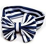 Blaux Baby Baumwollstirnband Mädchen geknotetes Bogen Kopf Streifen Baby Kind Haar Zusätze
