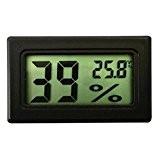 Bluelans® Mini LCD Digital Thermometer Temperatur Luftfeuchtigkeit Tester Hygrometer Schwarz, für Kühlschrank Aquarium