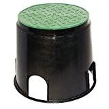 Bodeneinbauschacht 236 mm hoch mit abnehmbarem Deckel für unterirdische Verkabelungen