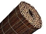 BOOGARDI Premium Weidenmatte 160 x 500 cm schwarz-braun | Natur-Sichtschutzmatte in vielen Größen aus gekochten Weide-Zweigen für Garten, Balkon und ...