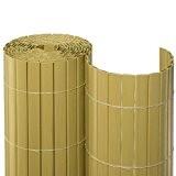 BOOGARDI PVC Sichtschutzmatte 180 x 500 cm Bambus - Moderne Sichtschutzmatte in vielen Farben und Größen als Sichtschutz | Windschutz ...