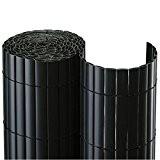 BOOGARDI PVC Sichtschutzmatte 200 x 500 cm Anthrazit - Moderne Sichtschutzmatte in vielen Farben und Größen als Sichtschutz | Windschutz ...