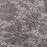casa pura® Tischdecke Arnica | edles Dunkelgrau mit verspieltem Blumenmuster | Weichschaum für Garten und Balkon | rund 140 cm