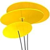 Cazador-del-sol ® | tres | 3 Stück Sonnenfänger gelb, Durchmesser 20 cm, 1,75 Meter hoch - das Original