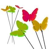 Cepewa Sonnenfänger Blumenstecker Lichtfänger Schmetterling sortiert Deko Material Schmetterling: fluoreszierendes Acrylglas