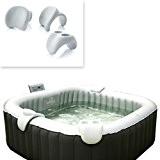 Comfort Set: 2xNackenkissen + Gertränkehalter für Whirlpool 158x158x68cm