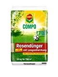 COMPO Rasendünger mit Langzeitwirkung, Rasenpflege mit bis zu 3 Monaten Langzeitwirkung für Spiel-, Sport- und Zierrasenflächen, 20 kg für 750 ...