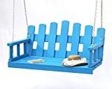 DanDiBo Hängebank Blau Schaukel mit Ketten und Auflage Gartenschaukel Hollywoodschaukel