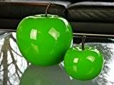 Deko-Artikel Apfel Ø15x H18cm aus Fiberglas in Hochglanz grün, Dekoration, Hochglanz, Deko-Obst