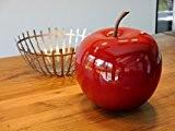 Deko-Artikel Apfel Ø25 x H29cm aus Fiberglas in Hochglanz rot, Deko, Deko-Artikel