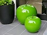 Deko-Artikel Apfel Ø25x H29cm aus Fiberglas in Hochglanz grün, Dekoration, Hochglanz, Deko-Obst