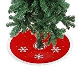 DELEY Weihnachts Neuheit Prop Dekorationen Dekor Xmas Baum Rock Christbaumständer Decke Weihnachtsbaumdecke Christbaumdecke Geschenk Durchmesser 11.81 Zoll Schneeflocke